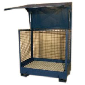 Caseta almacenamiento acero for Casetas metalicas usadas