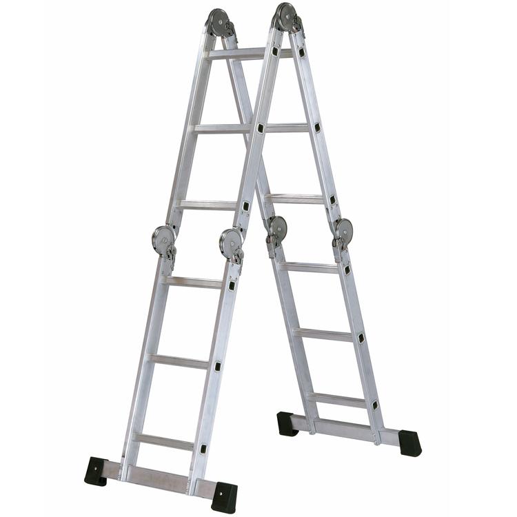 Escalera de aluminio articulada multiposiciones for Escaleras de aluminio usadas